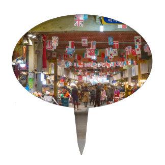 Colorful Korean Marketplace Cake Topper