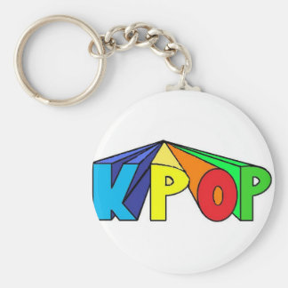 Colorful KPOP 3D Basic Round Button Keychain