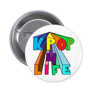 Colorful KPOP 4 LIFE 2 Inch Round Button