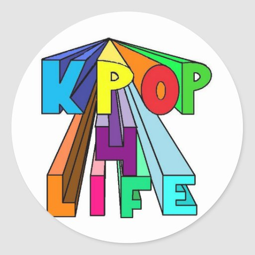 Colorful KPOP 4 LIFE Classic Round Sticker