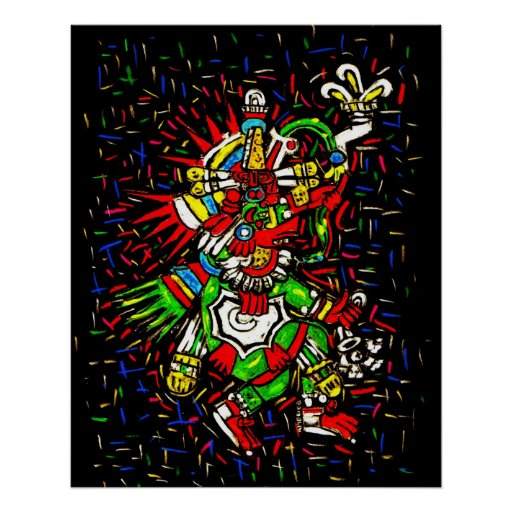 Colorful Kukulcan Poster