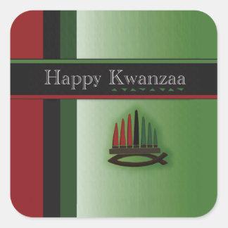 Colorful Kwanzaa Holiday Stickers