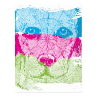 Colorful Labrador Art Postcard