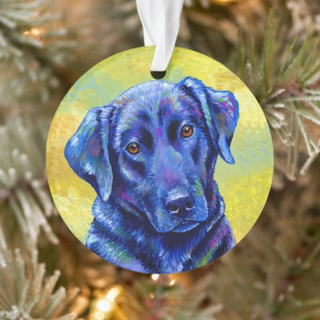 Colorful Labrador Retriever Dog Acrylic Ornament