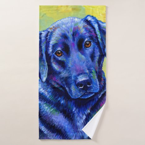 Colorful Labrador Retriever Dog Bath Towel Set