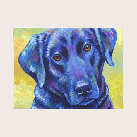 Colorful Labrador Retriever Dog Door Mat