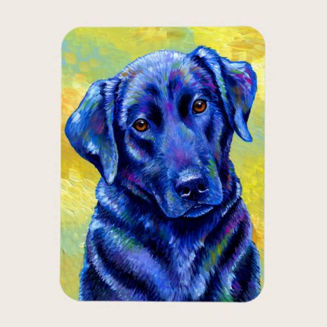 Colorful Labrador Retriever Dog Flexible Magnet