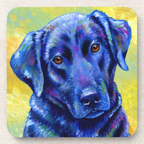 Colorful Labrador Retriever Dog Plastic Coasters