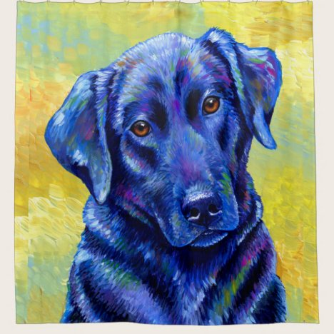 Colorful Labrador Retriever Dog Shower Curtain