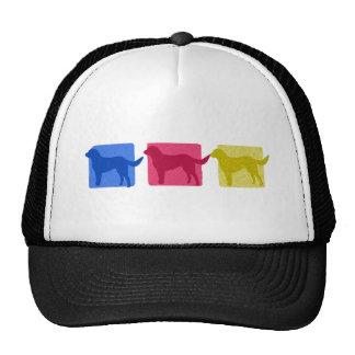 Colorful Labrador Retriever Silhouettes Trucker Hat
