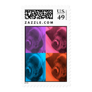 Colorful Labrador stamp