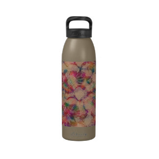Colorful Lace Roses Reusable Water Bottles