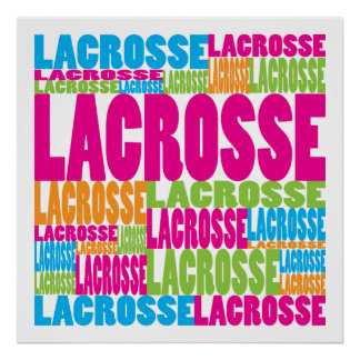 Colorful Lacrosse Poster