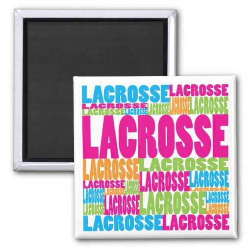 Colorful Lacrosse Refrigerator Magnets