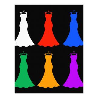 Colorful ladies gowns letterhead