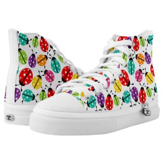 Colorful Lady Bug Pattern Printed Shoes