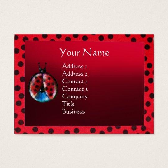 COLORFUL LADYBUG MONOGRAM BUSINESS CARD