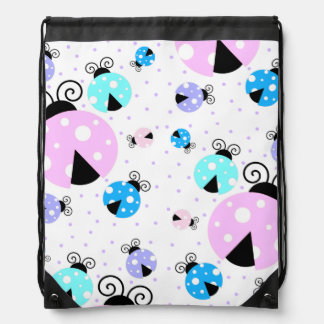 Colorful Ladybugs Drawstring Backpack