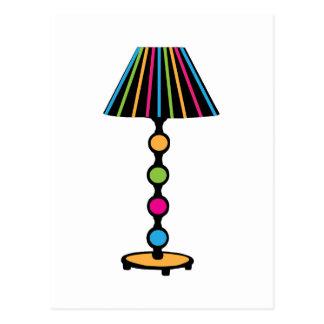 Colorful Lamp Postcard