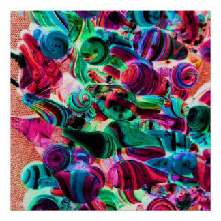 Colorful Lampwork Boro Bead Strand Poster Print