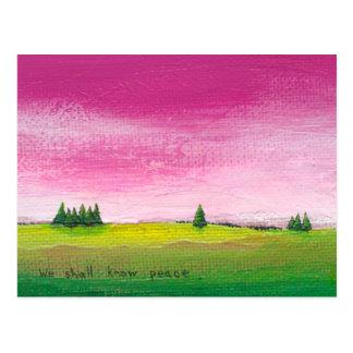 Colorful landscape art pretty peaceful In Time Postcard