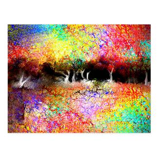 Colorful Landscape Postcard