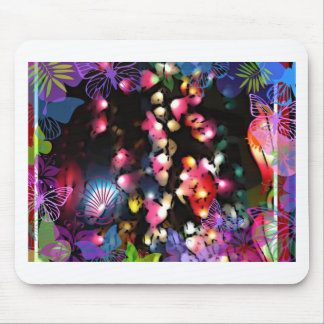 Colorful lantern lights photo art mouse pad