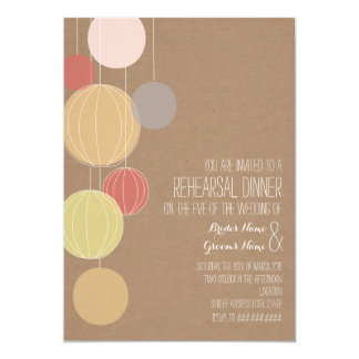 Colorful Lanterns Cardstock Inspired Rehearsal 5x7 Paper Invitation Card
