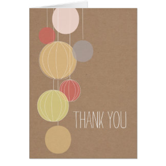 Colorful Lanterns Cardstock Inspired Thank You Card