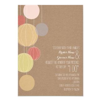 Colorful Lanterns Cardstock Inspired Wedding Card