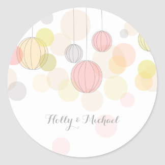 Colorful Lanterns Wedding Sticker
