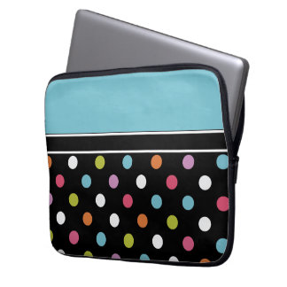 Colorful Laptop Case Polka Dots Laptop Computer Sleeve