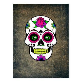 Colorful Large Sugar Skull Postcard