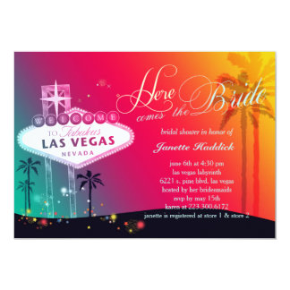 Colorful Las Vegas Bridal Shower Card