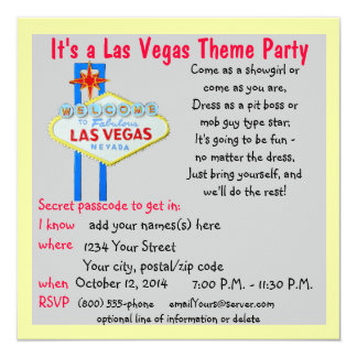 Colorful Las Vegas Welcome Sign Theme Parties Card