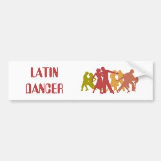 Colorful Latin Dancers Bumper Sticker
