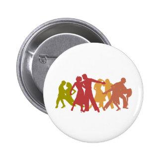 Colorful Latin Dancers Pins