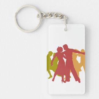 Colorful Latin Dancers Keychain