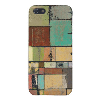 Colorful Lattice Abstract Art iPhone 4 Case