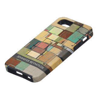Colorful Lattice Abstract Art iPhone 5 Case -Tough