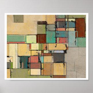 Colorful Lattice Abstract Art Print