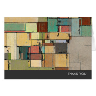 Colorful Lattice Abstract Art Thank You Note Cards