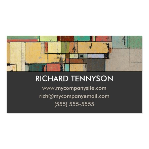 Colorful Lattice Abstract Custom Business Cards