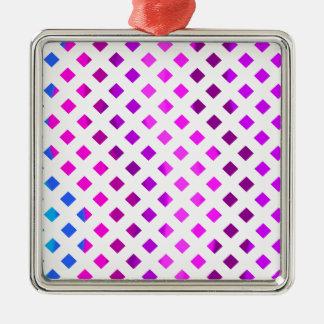 Colorful Lattice Pattern Metal Ornament