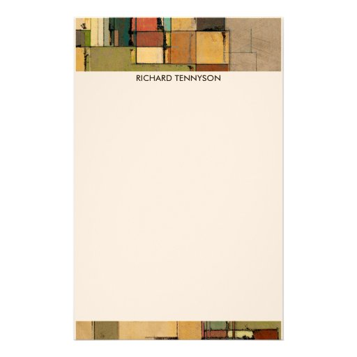 Colorful Lattice Personalized Stationery