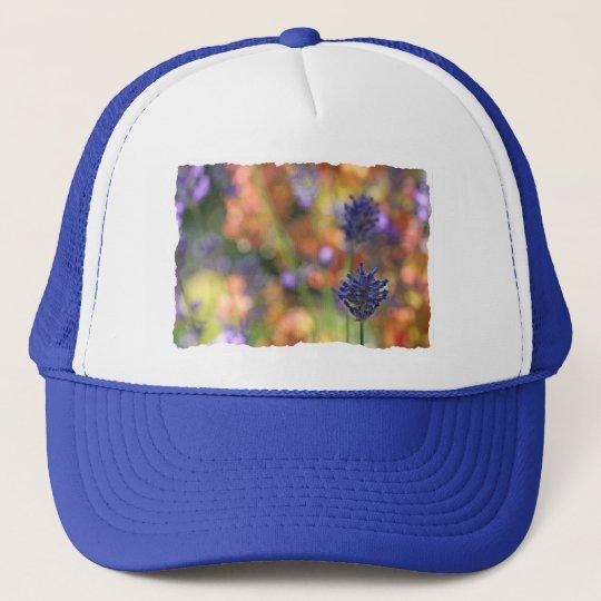 Colorful Lavender Garden Photo Trucker Hat