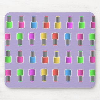 Colorful Lavender Nail Polish Bottles Mousepad