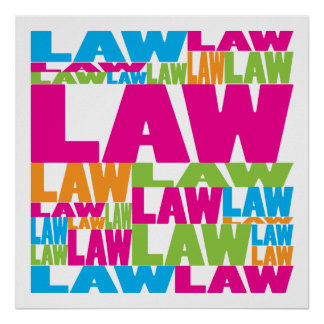 Colorful Law Poster