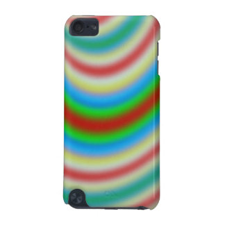 Colorful layer of line pattern iPod touch 5G cover