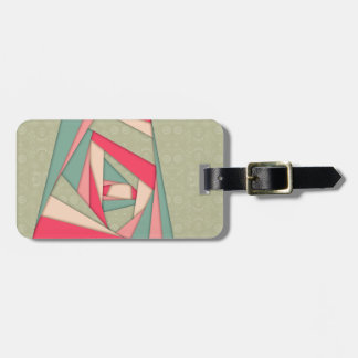 Colorful Layers Collage Luggage Tag